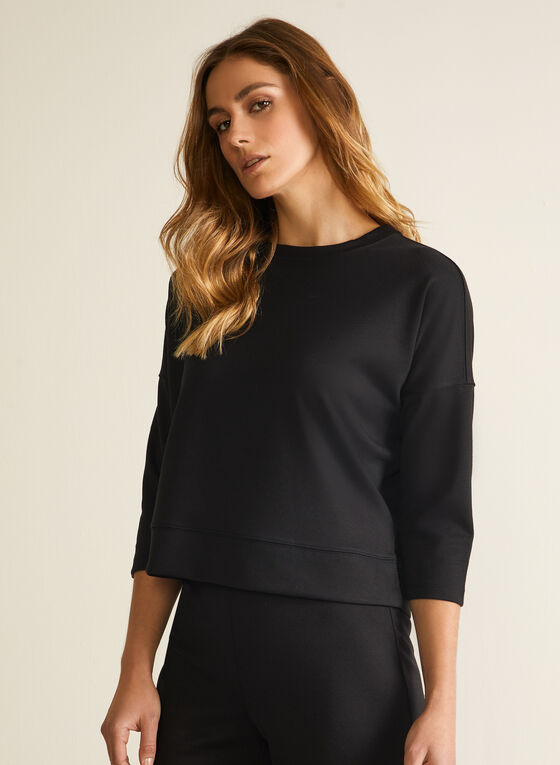 3/4 Sleeve Top, Black