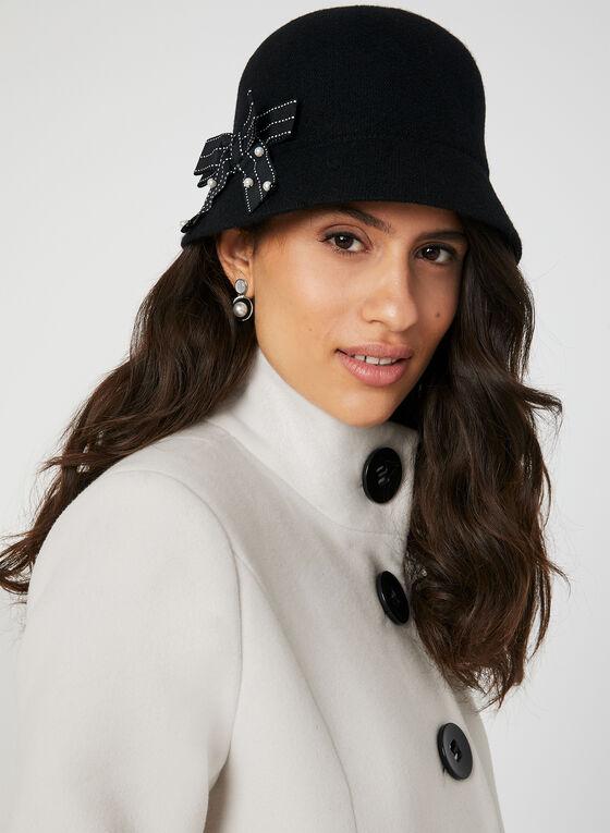 Manteau droit aspect laine , Blanc cassé, hi-res