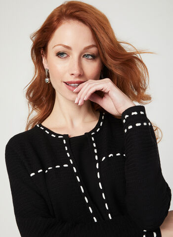 Alison Sheri – Sweater Cardigan Twinset, Black, hi-res