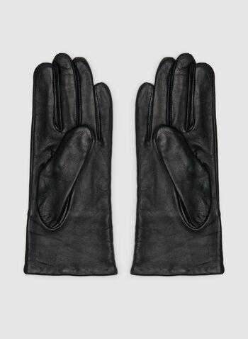 Gants en cuir et détails cloutés, Noir, hi-res,  gants, cuir, détails cloutés, suède, automne hiver 2019