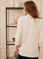Open Front Notch Collar Jacket, Off White