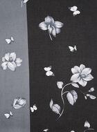 Écharpe florale deux tons, Gris