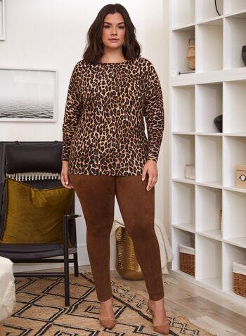 Leopard Print Sweater, Black,  sweater, knit, top, leopard print, boat neck, long sleeves, dolman sleeves, fall winter 2021