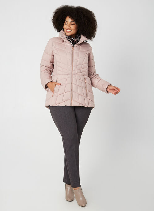Bernardo - Quilted Packable Coat, Pink