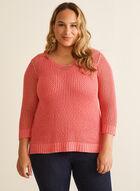 Crochet Sweater With Tank, Orange