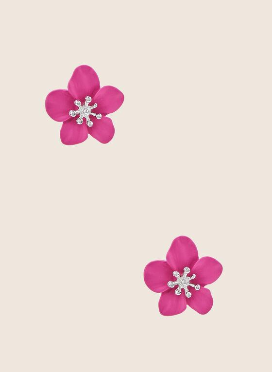 Clous d'oreilles fleurs, Rose