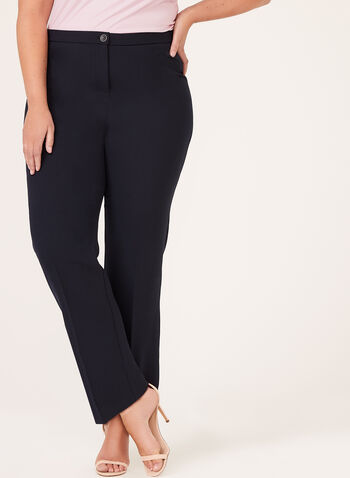 Signature - Straight Leg Pants , Blue, hi-res