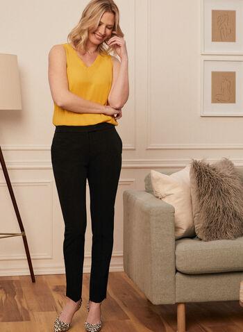 Louben - Pantalon coupe moderne à jambe droite, Noir,  Fait au Canada, printemps été 2021, pantalon, pantalons, jambe droite, louben, droit, moderne, ajusté, tailleur, poches, taille mi-haute