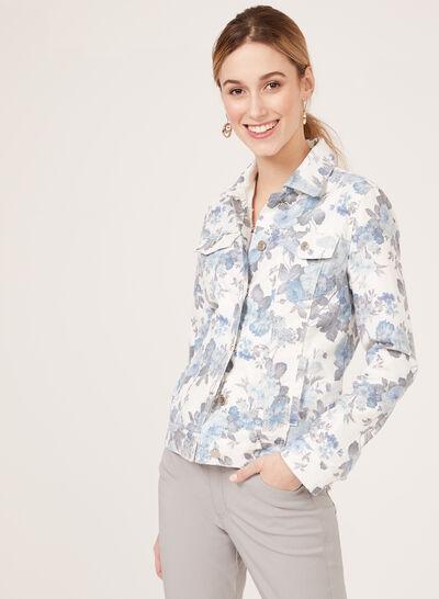 Simon Chang – Floral Print Denim Jacket