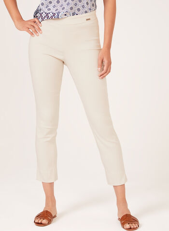 City Fit Pull-On Ankle Pants, Brown, hi-res