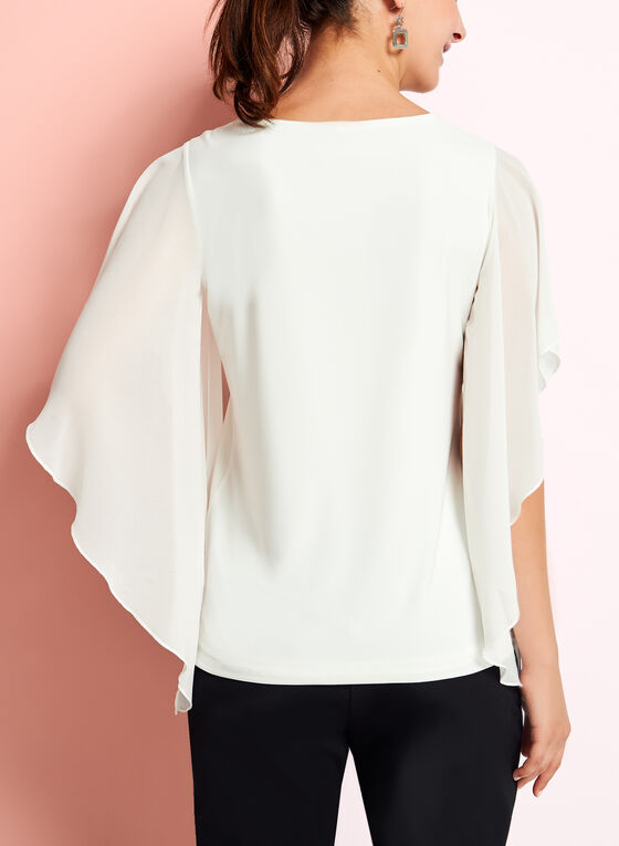 Angel Sleeve Blouse, Off White, hi-res