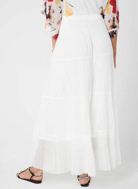 Alison Sheri - Tiered Maxi Skirt, White, hi-res