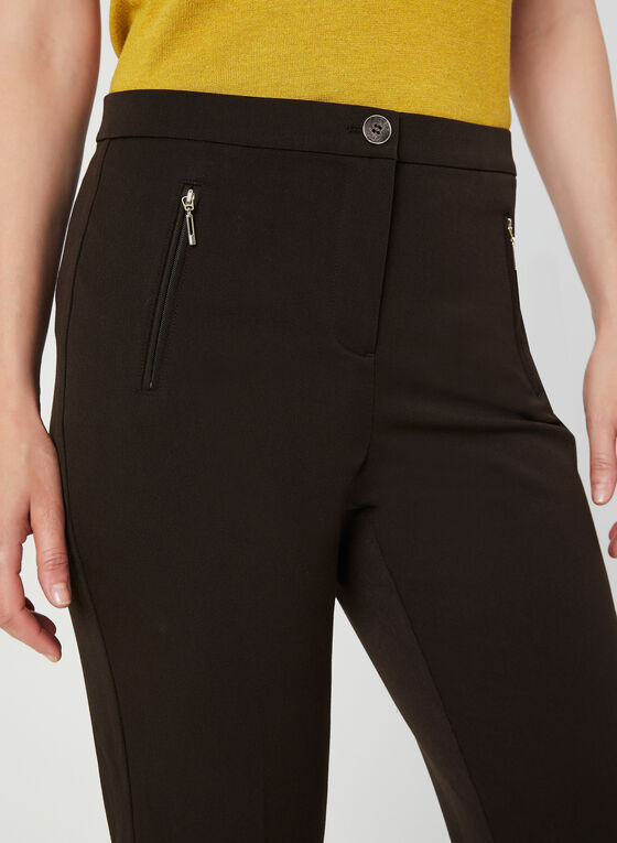 Signature Fit Straight Leg Pants, Brown, hi-res
