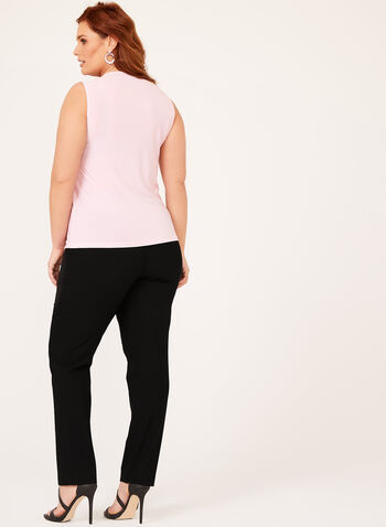 Scoop Neck Sleeveless Top, Pink, hi-res