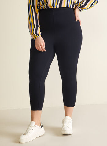 Legging capri en point de Rome, Bleu,  capri, pull-on, legging, point de rome, printemps été 2020