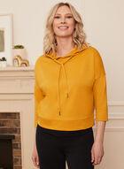 3/4 Sleeve Hooded Top, Yellow