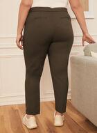 Pantalon coupe cité à jambe droite, Vert