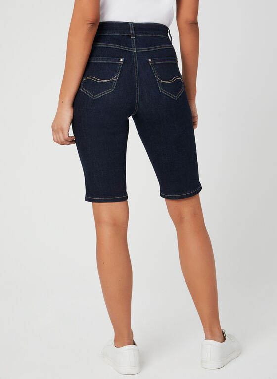 Modern Fit Denim Shorts, Blue, hi-res
