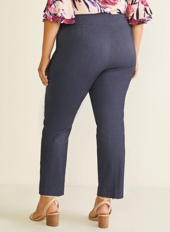 Straight Leg Pull-On Pants, Black