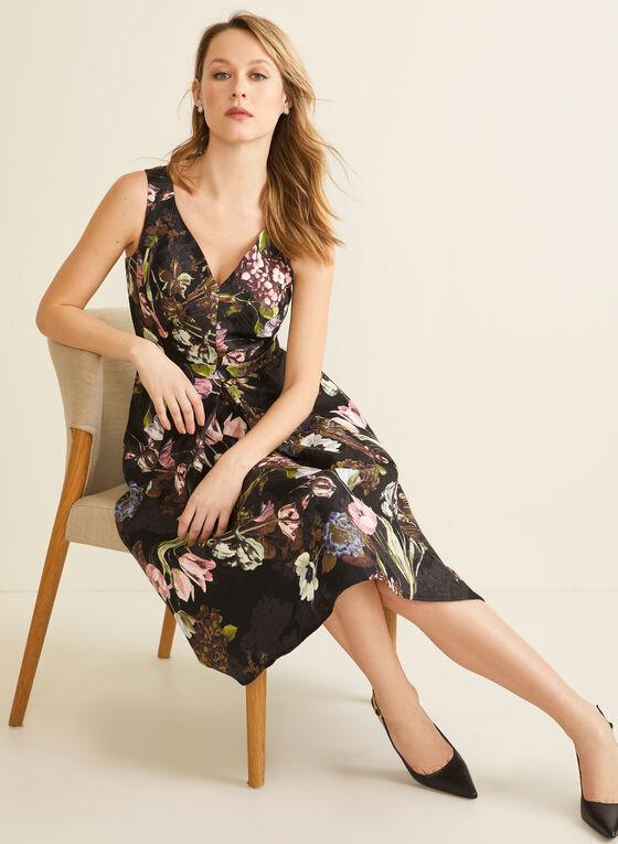 Floral Jacquard Dress, Black
