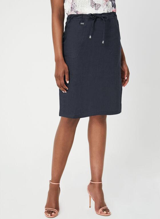 Mode de Vie - Linen Skort, Blue, hi-res