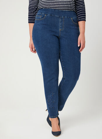 GG Jeans - Modern Fit Straight Leg Jeans, Blue, hi-res