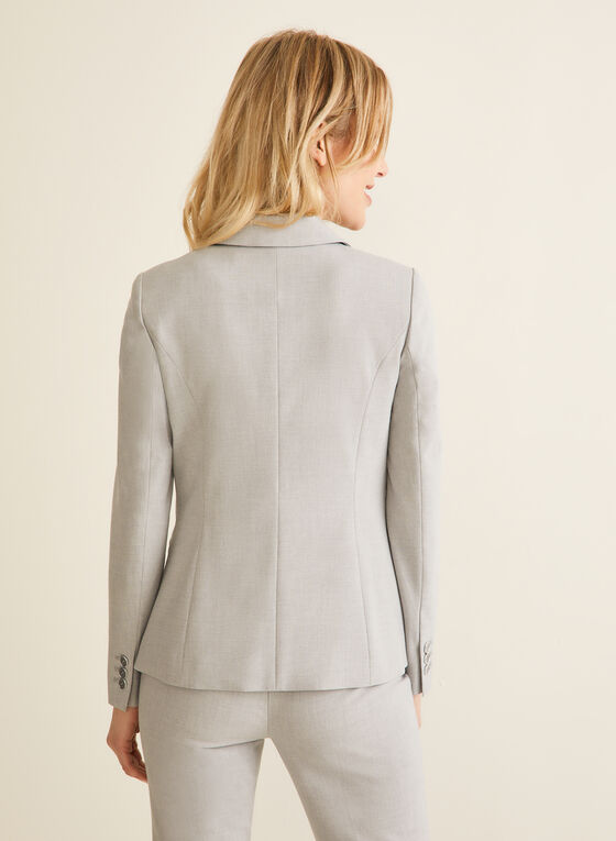 Notch Collar Jacket, Grey