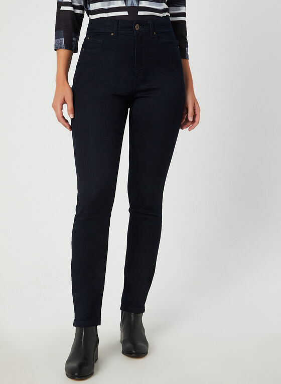 Signature Fit Straight Leg Jeans , Blue