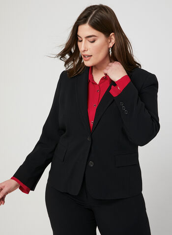 Louben - 2 Button Blazer, Black, hi-res