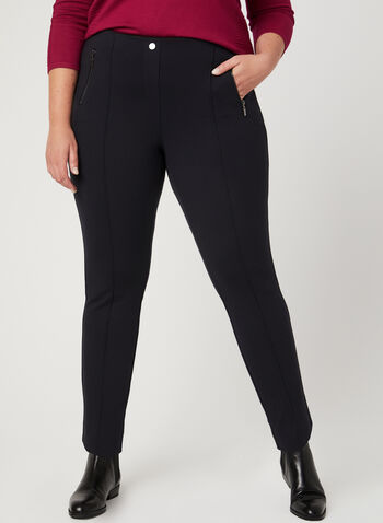 City Fit Slim Leg Pants, Blue, hi-res