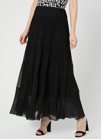 Alison Sheri - Tiered Maxi Skirt, Black, hi-res,  pull-on, maxi skirt, spring 2019