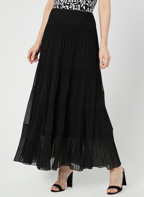 Alison Sheri - Tiered Maxi Skirt, Black