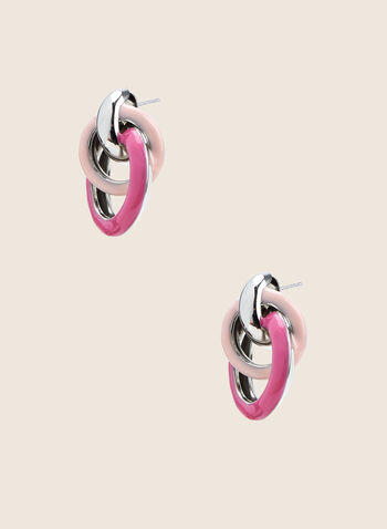Intertwined Circle Earrings, Pink,  earrings, intertwined, circles, spring summer 2020