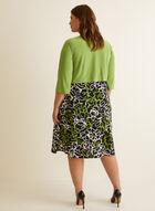 Robe fleurie et cardigan plissé, Vert
