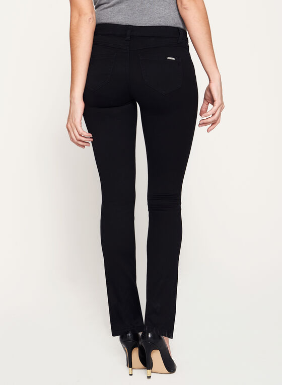 Mid-Rise Straight Leg Jeans, Black, hi-res