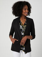 Open Front Crepe Jacket, Black, hi-res