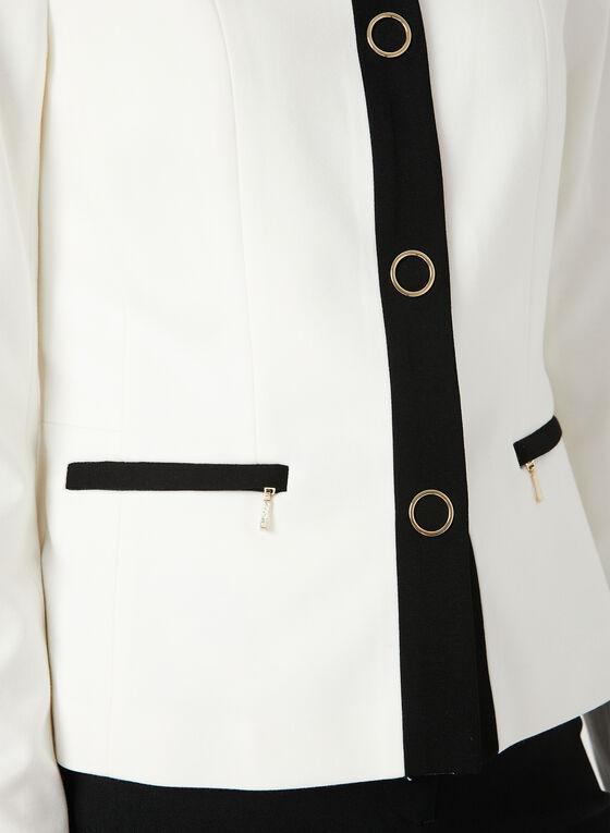 Veste à bandes contrastantes, Blanc cassé, hi-res