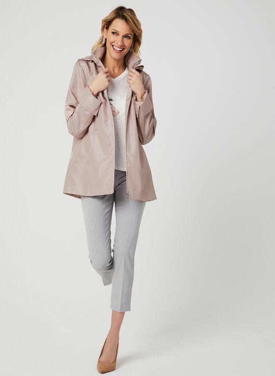 Manteau imperméable à capuchon amovible, Rose