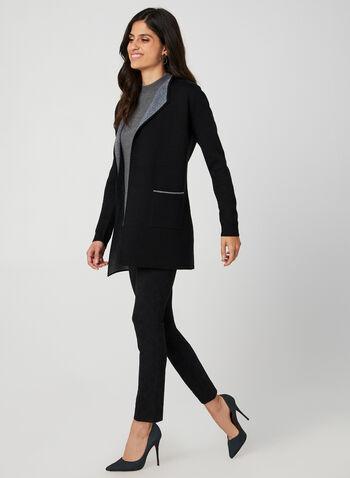 Pantalon pull-on coupe moderne, Noir,  automne hiver 2019, pantalon, jambe étroite, coupe moderne, pull-on, taille élastique, taille mi-haute