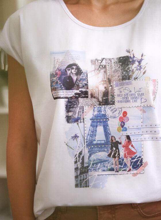 Paris Print Tee, White