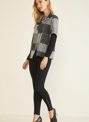 Legging à détails rivets, Noir,  legging, rivets, point de rome, pull-on, automne hiver 2020