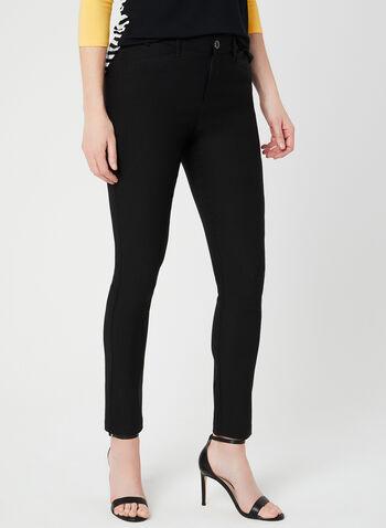 Simon Chang - Signature Fit Pants, Black, hi-res,  Simon Chang, pants, Signature Fit, slim leg, tummy control, comfort waist, micro twill, spring 2019