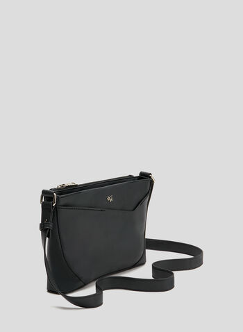 4 Women - Rectangular Crossbody Bag, Black, hi-res