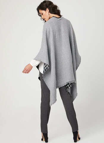 Collection 18 - Reversible Poncho , Black, hi-res