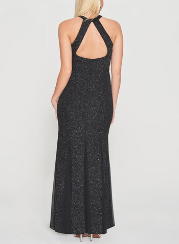 Cleo Neck Glitter Gown, , hi-res