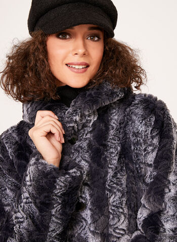 Novelti - Faux Fur Reversible Coat, Black, hi-res