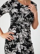 Floral Print Jersey Dress, Black