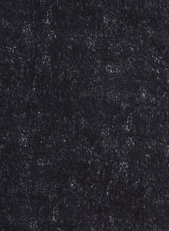 Foulard léger à motif abstrait, Noir, hi-res