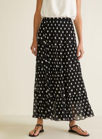 Alison Sheri - Maxi Peasant Skirt, Black,  skirt, maxi, peasant, chiffon,
