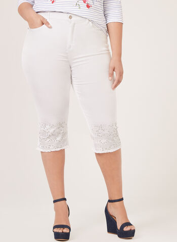 Simon Chang - Signature Fit Slim Leg Capris, White, hi-res